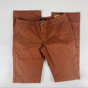 American Eagle Sz 8 Long Brown Kickboot Pants